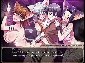 Violated Hero 1 - Gallery - Werecats Marina and Merina and Arina