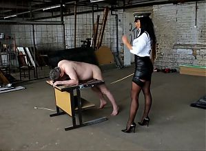 Nice caning action