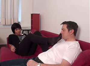 mexican teen want bobby smell her nylon feet