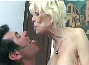 Two Women Fuck Man with Strap on