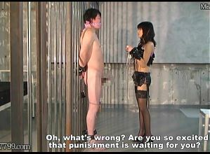 Japanese Femdom CBT Tease and Cock Punishment